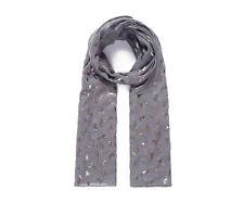 Ladies Women Unicorn Metallic Foil GREY Scarf Wrap Pashmina Sarong