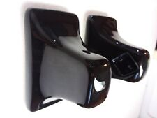 MID CENTURY MODERN Vintage Black Retro Ceramic Bath Towel Bar Rod POST Holders