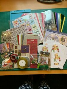 Christmas papercrafting kit, papers, toppers, ribbon, decoupage