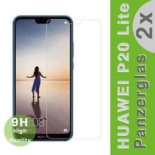 "2x Huawei P20 Lite ""Panzerglasfolie"" Panzerfolie Schutzfolie Display Glas Folie"