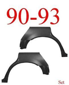 90 93 Honda Accord 4 Door Rear Upper Wheel Arch Set Repair Panel Sedan