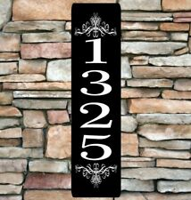 "Personalized Home Address Sign Aluminum 3"" x 12"" Custom House Number Plaque sq11"