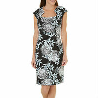 CONNECTED APPAREL WOMEN'S FLORAL PRINT SHEATH COCKTAIL DRESS
