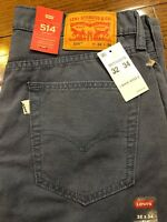 Mens Sise 32x34 Levis 514 Straight Leg Pants Blue