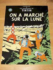 TINTIN POSTER LARGE - ON A MARCHÉ SUR LA LUNE / ON MOON - 70 x 50 cm MINT NEW