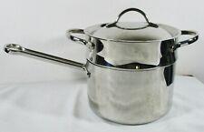 New ListingVtg Revere Proline Copper Core Stainless 3 Qt Sauce Pan w/ Lid & Steamer 6713