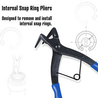 Heavy-duty Cylinder Snap Ring Pliers  Long Bending for Motorcycles Cars Trucks