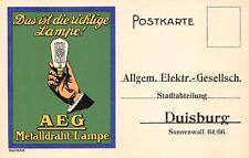 C1531) LAMPADINE, AEG METTALDRAHT-LAMPE, DUISBURG.