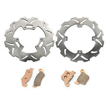 For Honda Front Rear Brake Rotor Discs Pads CR125 R CR250R CRF250R CRF450X 05-15