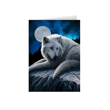 Wolf Fantasy Greeting Card Guardian of the North