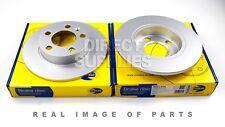 2 X REAR AXLE BRAKE DISCS AUDI TT SKODA FABIA OCTAVIA RAPID VW NEW BEETLE POLO