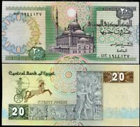 EGYPT 20 POUNDS P 52 SIGN 17 UNC