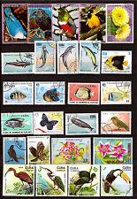 TOUS PAYS Protection de la nature : oiseaux,poissons, fleurs H4
