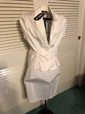 Ladies SUMMER WHITE SKIRT SUIT 13 Petite