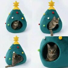 Lovely Christmas Tree Shape Pet Cat Dog Bed House Super Soft Sleeping Bed