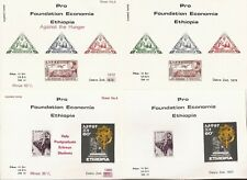 ETHIOPIA & NETHERLANDS- 8 Special Charity Souvenir sheets (1977-78)