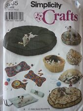 NEW SIMPLICITY DOG & CAT BEDS & PLACE MATS SEWING PATTERN