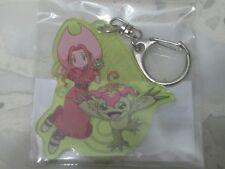 Mimi & Palmon Crest of Sincerity Acrylic Keychain Keyring Digimon Adventure tri.