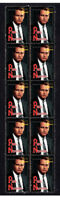 PAUL NEWMAN HOLLYWOOD ICON STRIP OF 10 MINT VIGNETTE STAMPS 2