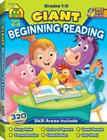 School Zone - Giant Beginning Reading Workbook - Ages 6 to 8 (1st & 2nd Grades)