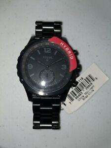 Fossil Q Men's Nate Hybrid Smartwatch FTW1115 BLACK