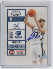 MARC GASOL Grizzlies SIGNED 2010-11 Contenders Basketball Autograph ON CARD AUTO