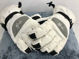 GORDINI  Mittens Gloves Ski Snow SZ SWhite