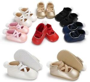 So Lovely Newborn Baby Girl Ballet Shoes First Shoes Toddler Pre Walker Trainers