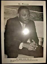 1968 Martin Luther King Jr Memory Picture