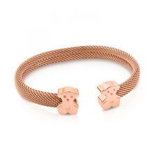 14K New Teddy Bear Bracelet Mesh C-Shaped Two Bear Bracelet 5 Color Choice