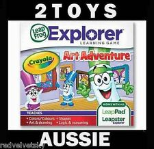 LeapPad 1 2 3, ULTRA, LEAPSTER GS & EXPLORER ~ CRAYOLA Art Adventure Game