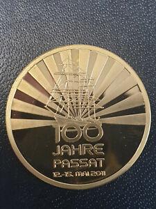 Goldmedaille 100 Jahre Passat - Auflage nur 100 Stück - 8,5g Feingold (999) - PP