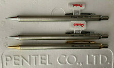 3 New Pentel Stainless Steel 0.5mm Mechanical Pencils*Pencil S475, S475G & SS475