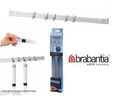 Brabantia Küchenhelfer Wandschiene 40cm mit 5 Haken matt steel