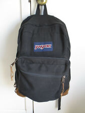 JanSport Vintage Leather Bottom Backpack -