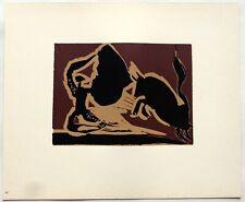 Pablo PICASSO LINOGRAVURE 1962 cercle d'art Farol PI42