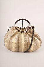 Michael Kors Collection Cream/Brown Python Satchel Bag