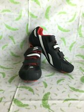 Spiuk Rodda Cycling Shoes Size 10 (44) black & white - polyamide glassfibre sole