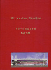 MILLENNIUM STADIUM AUTOGRAPH BOOK SIGNED BY 2442 FOOTBALL RUGBY UNION & LEAGUE
