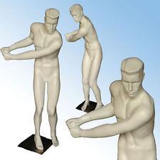 Male Full Body Sport Mannequin in White (Golfer).