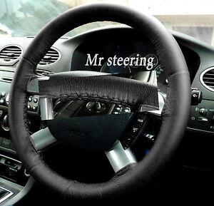 Per Ford Focus MK3 Nera Vera pelle Italiana Volante Cover Top Qualità