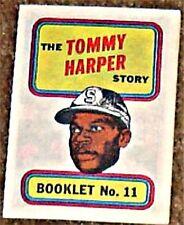 TOPPS BASEBALL MINI COMIC BOOKLET 1970 11 TOMMY HARPER RARE GIVEAWAY PROMO NM