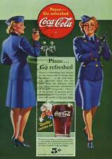 COCA COLA   GET REFRESHED  A4   VINTAGE  PRINTED  POSTER
