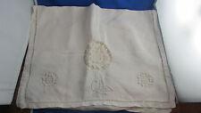 ancien range poche porte pyjama brodé housse decor floral monogramme cd dc