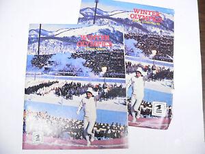 1980 Winter Olympics USA at Lake Placid stamp album with original envelope