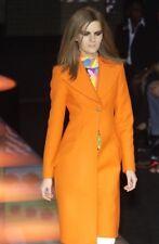 GiANNI VERSACE RUNWAY Fall 2002 Orange Wool Coat Size IT 42 US 6