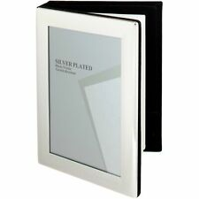 SILVER PLATED PICTURE PHOTO ALBUM - 4 x 6 -inch