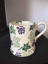 Emma Bridgewater Ivy Leaves and Flower Green Purple Rare Half Pint Mug 2000