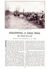 1910 Vintage article Following A Field Trial by Todd Russell Beagle Trials