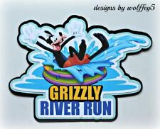 DISNEY GRIZZLY RUN TITLE 3D art premade paper piecing scrapbook diecut album